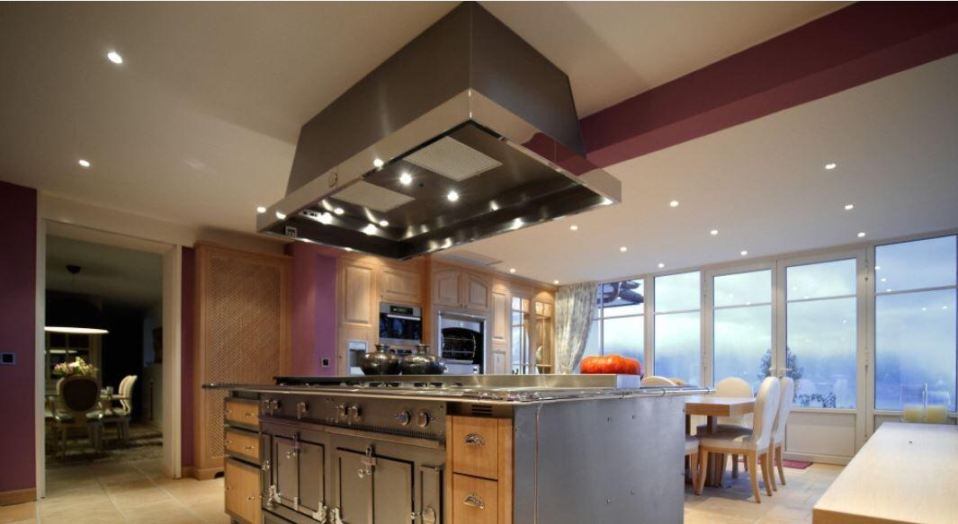 La Cornue HCO Le Chateau Hotte Island Range Hood with LED Lighting ...