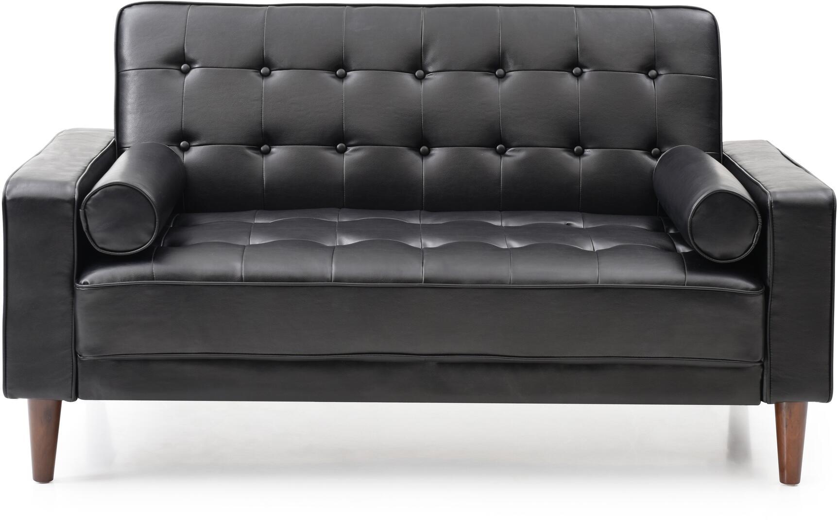 Glory Furniture G843al Navi Series Loveseat Sleeper Faux Leather