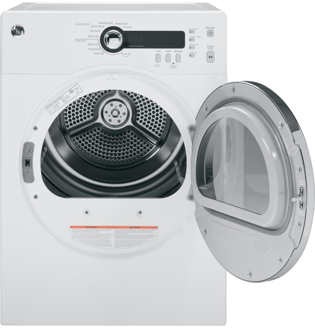 Ge Dcvh480ekww 24 Inch White 4 0 Cu Ft Electric Dryer