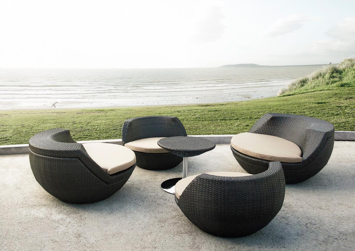 Vig furniture vgmnrm7654brn modern round shape patio sets for Outdoor furniture 0 finance