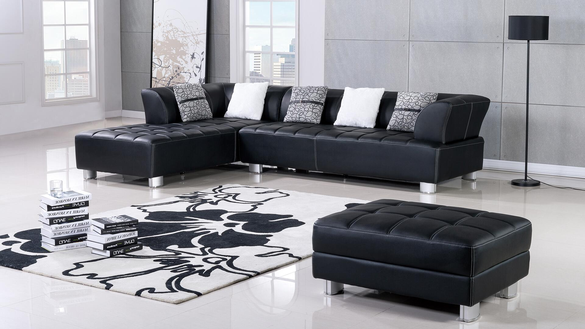 American Eagle Furniture Ae L138 Faux Leather Sectional Sofa