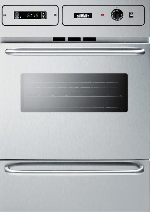 Summit Ttm7882bkw 24 Inch Stainless Steel Single Wall Oven