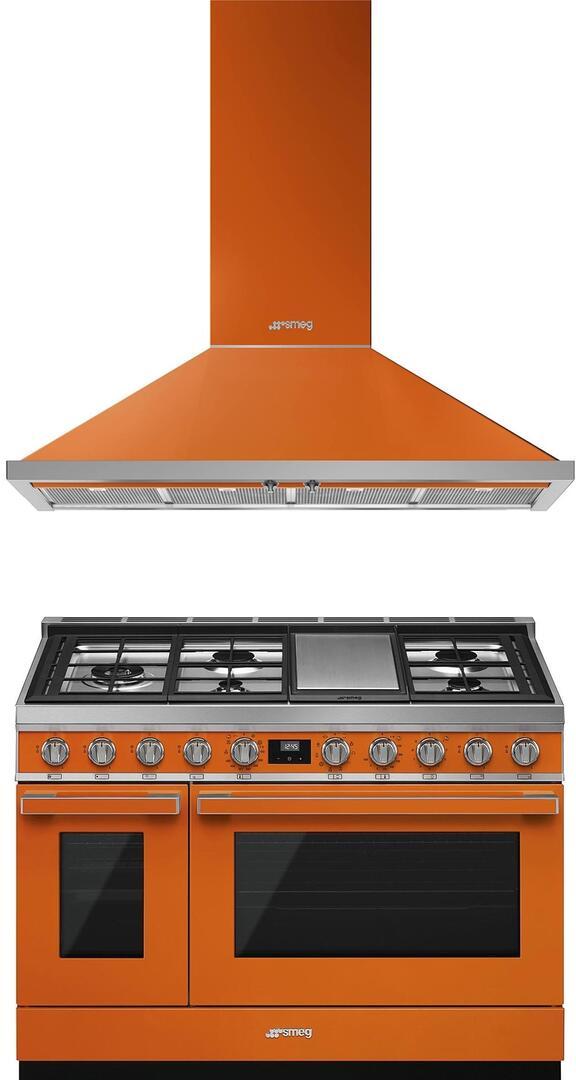 Smeg 974014 2 piece Orange Kitchen Appliances Package