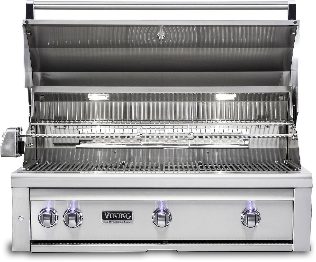 Viking vqgi5360lss 36 inch built in grill in stainless for Viking built in grill
