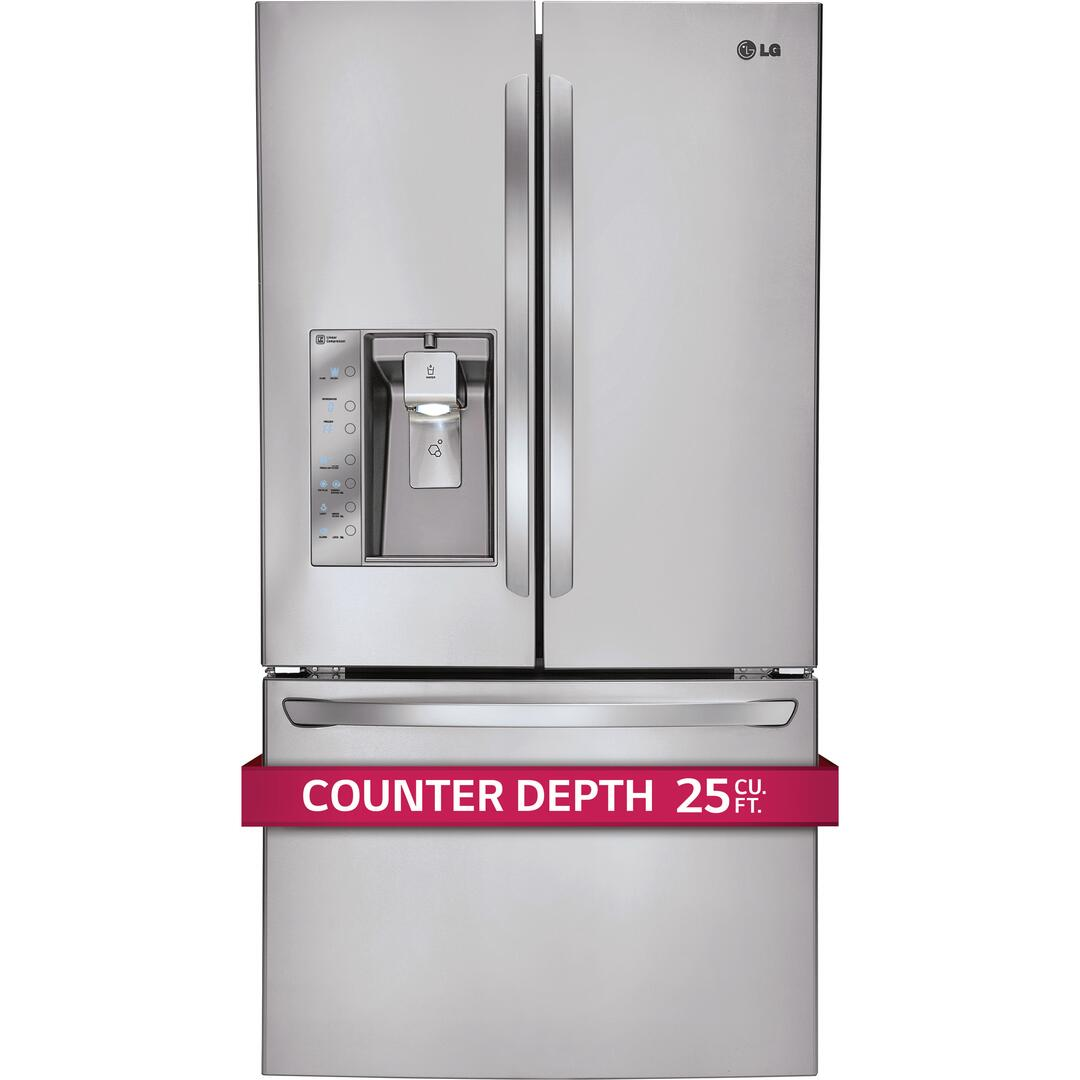 Lg Lfx25991st Counter Depth French Door Refrigerator With