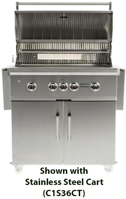 Coyote c1sl36ng 36 inch built in grill in stainless steel for Coyote outdoor grills reviews