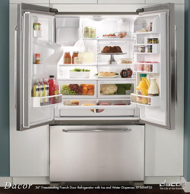 Dacor EF36IWFSS Renaissance Series Counter Depth French Door Refrigerator With 19.9 Cu. Ft