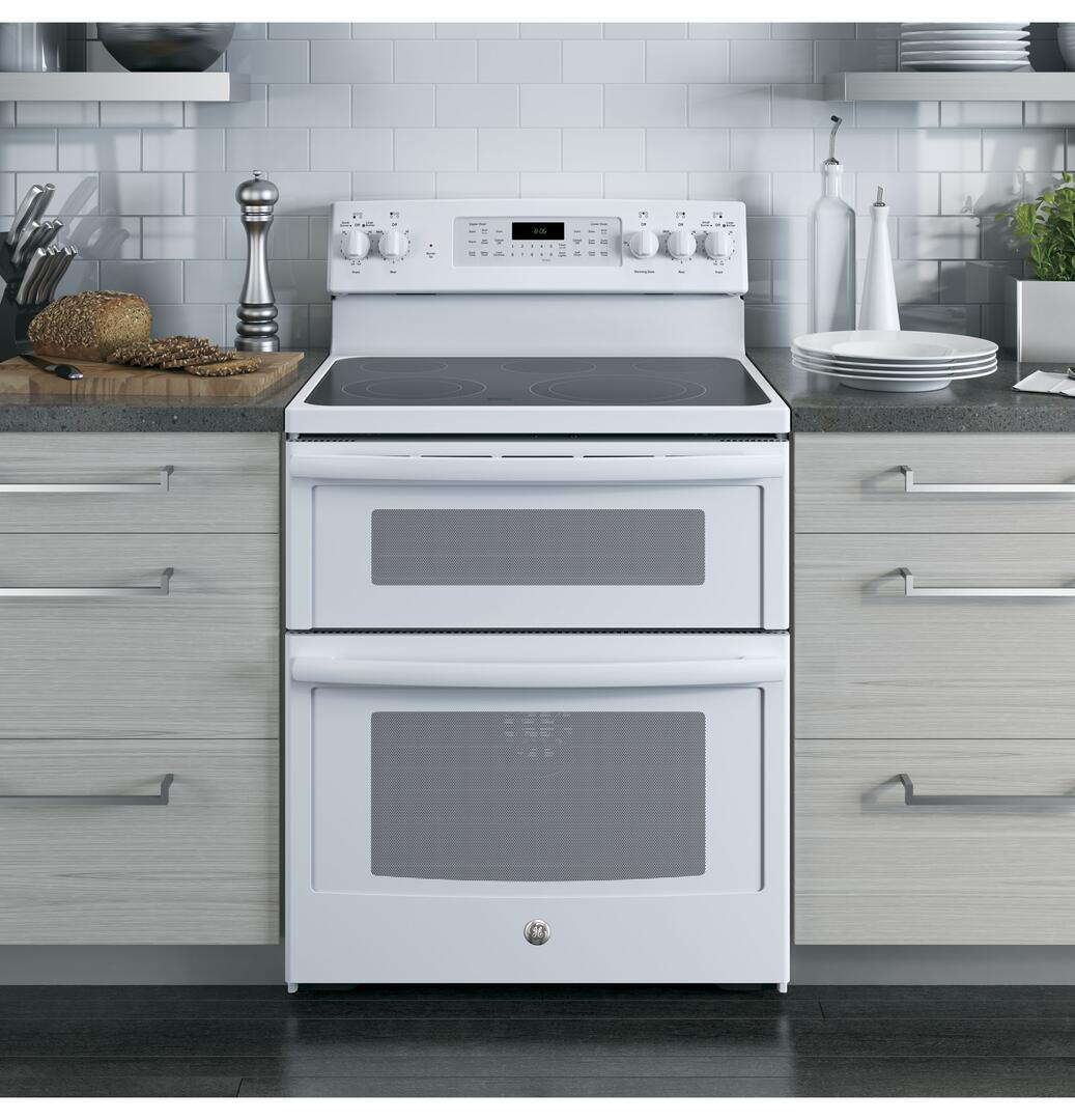 GE JB750DJWW 30 Inch White Electric Freestanding Range with ...