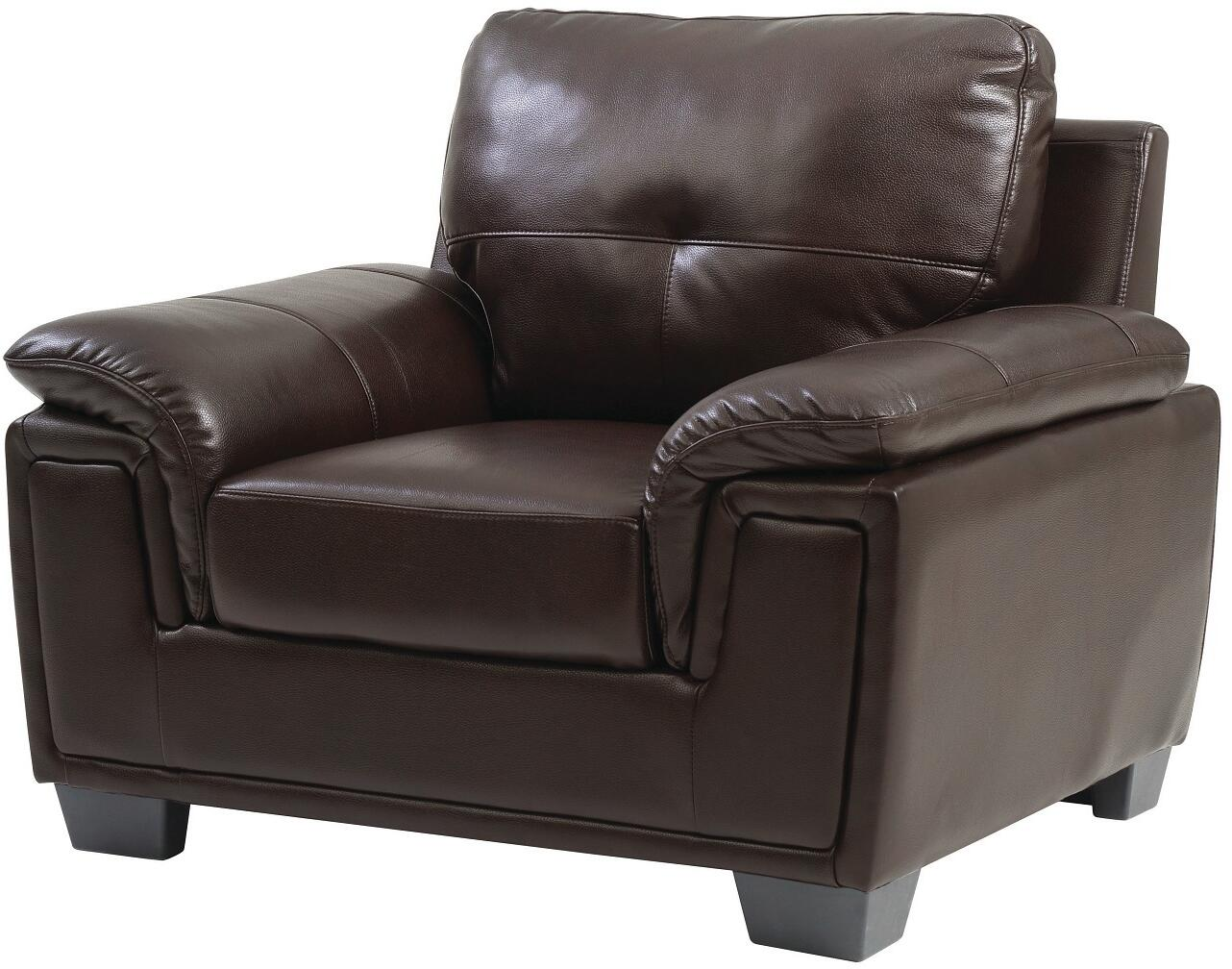 Glory furniture g665c faux leather armchair in dark brown for Furniture connection