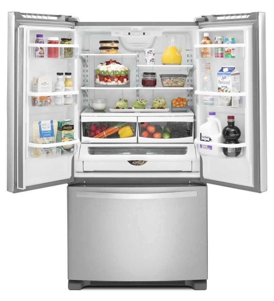 Whirlpool WRF532SMBM 33 Inch French Door Refrigerator with 21.7 cu ...