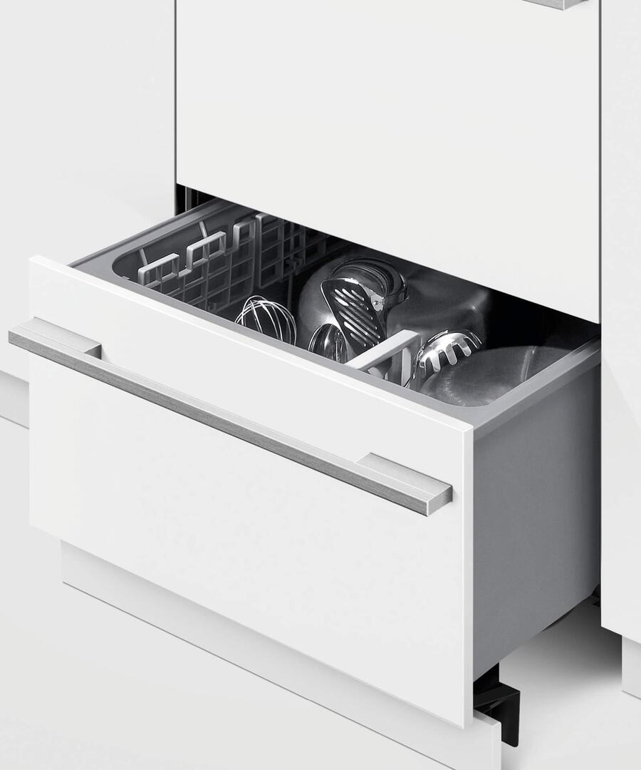 Fisher paykel dd24dti9n 24 inch drawers fully integrated dishwasher with 14 place settings place - Fisher paykel dishwasher drawer reviews ...