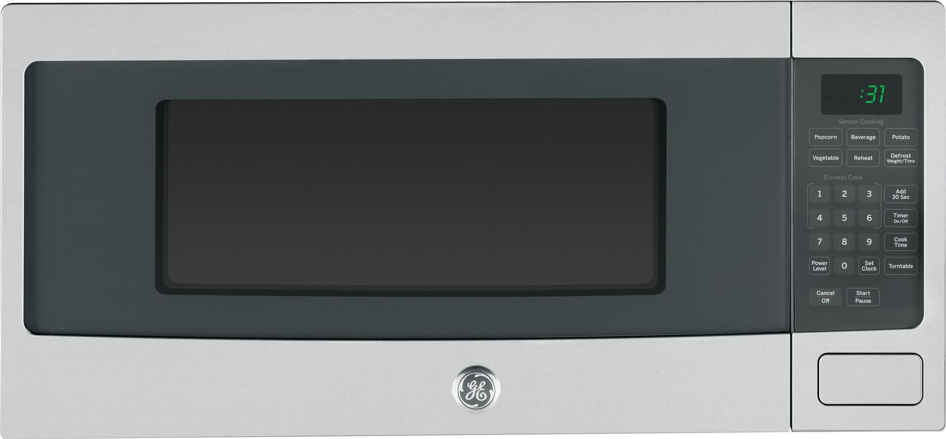 Ge profile pem31sfss 24 inch countertop microwave in stainless ge profile 1 fandeluxe Choice Image
