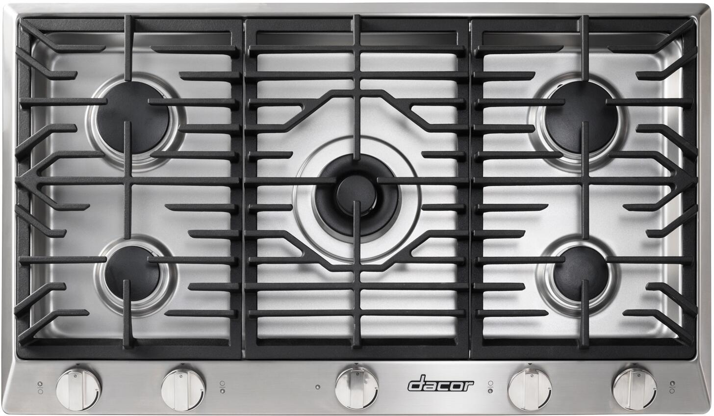 Dacor HCT365GSNG Heritage Series 36 Inch Gas Sealed Burner Cooktop