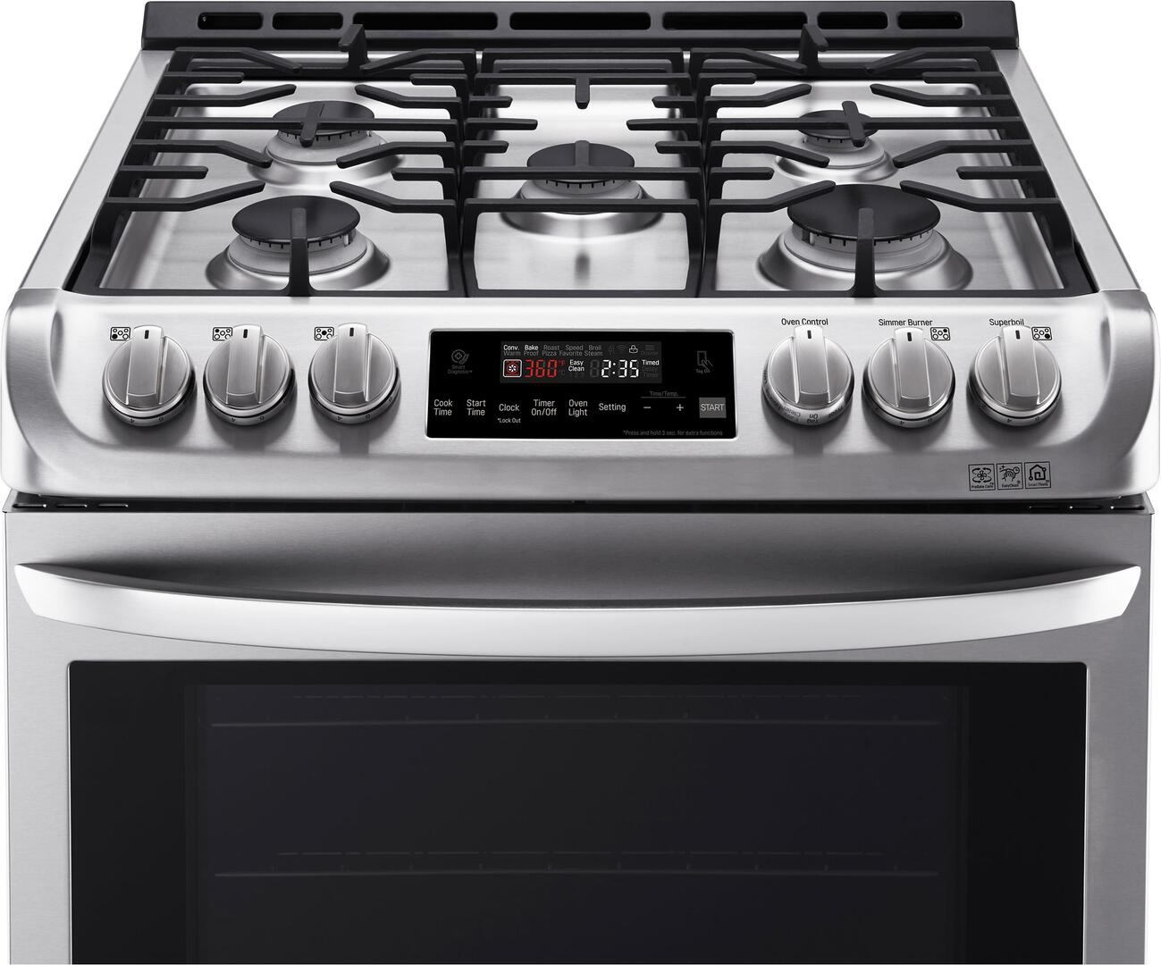 Kitchen gas stove top view - Lg Main Image Lg Detailed View