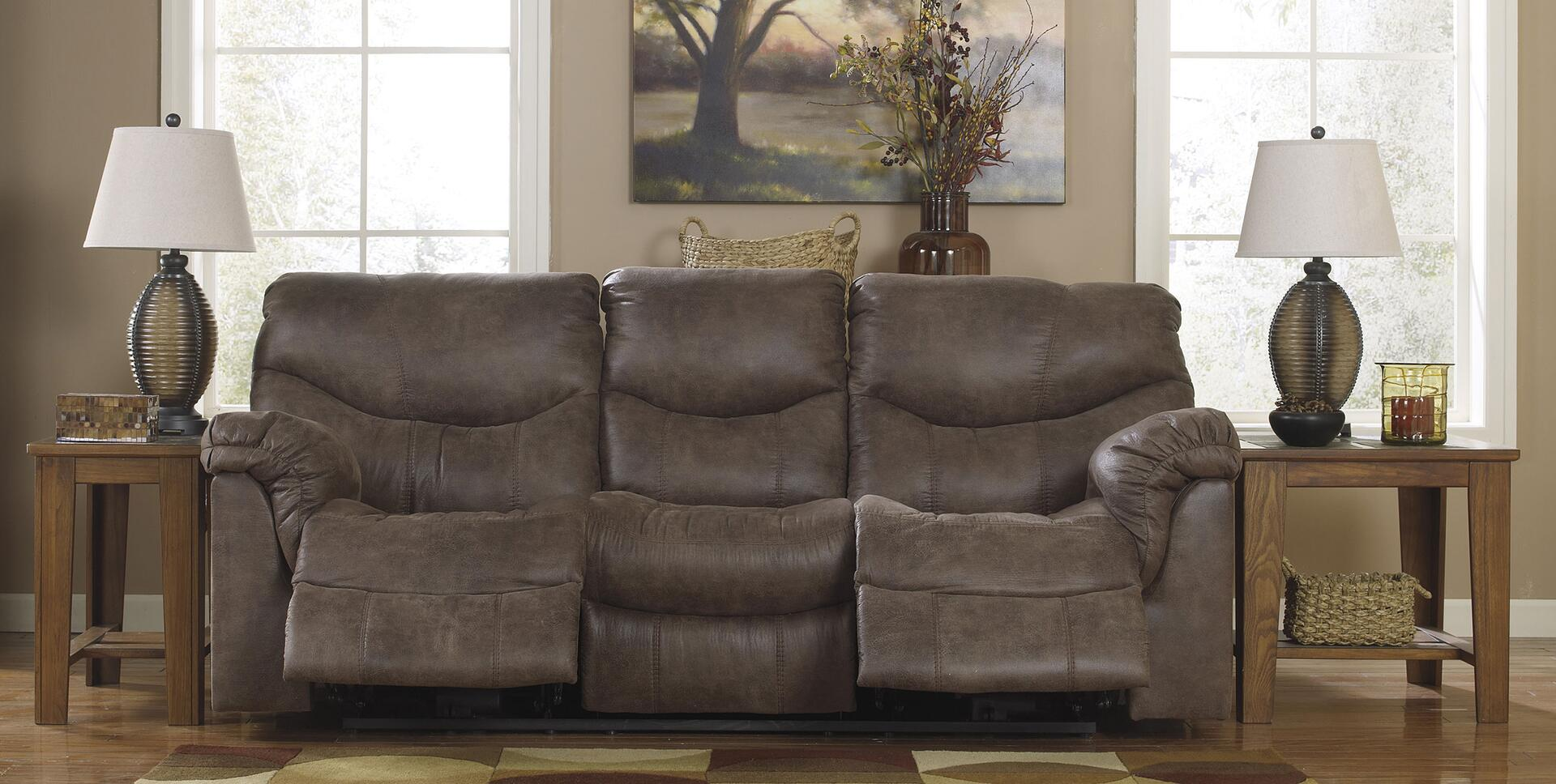 Signature Design By Ashley 7140087 Alzena Series Reclining Faux Leather Sofa Appliances Connection