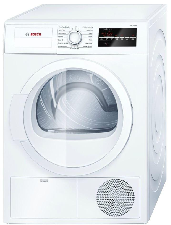 Bosch WTG86400UC 24 Inch 300 Series White 4 cu. ft. Electric Dryer ...