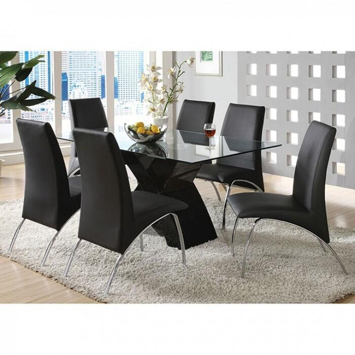 Furniture of america cm8370bkdt6sc wailoa dining room sets for Furniture of america customer service