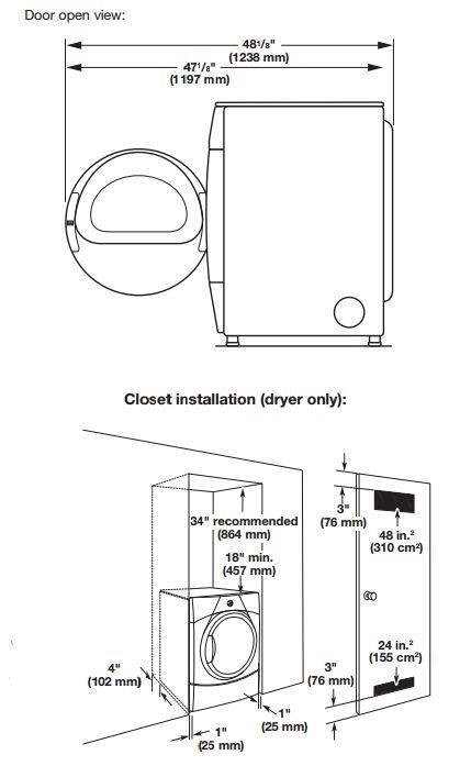 maytag mgde251yg 6 7 cu  ft  gas dryer  in grey