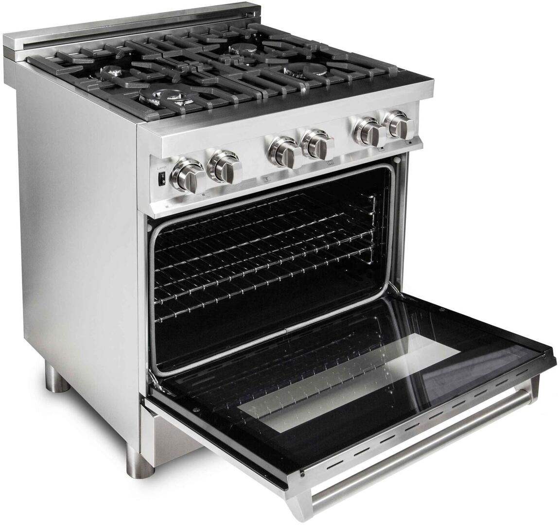 Z Line Ra30 30 Inch Stainless Steel Dual Fuel Freestanding