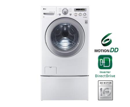 Lg Wm2250cw 3 6 Cu Ft Front Load Washer In White