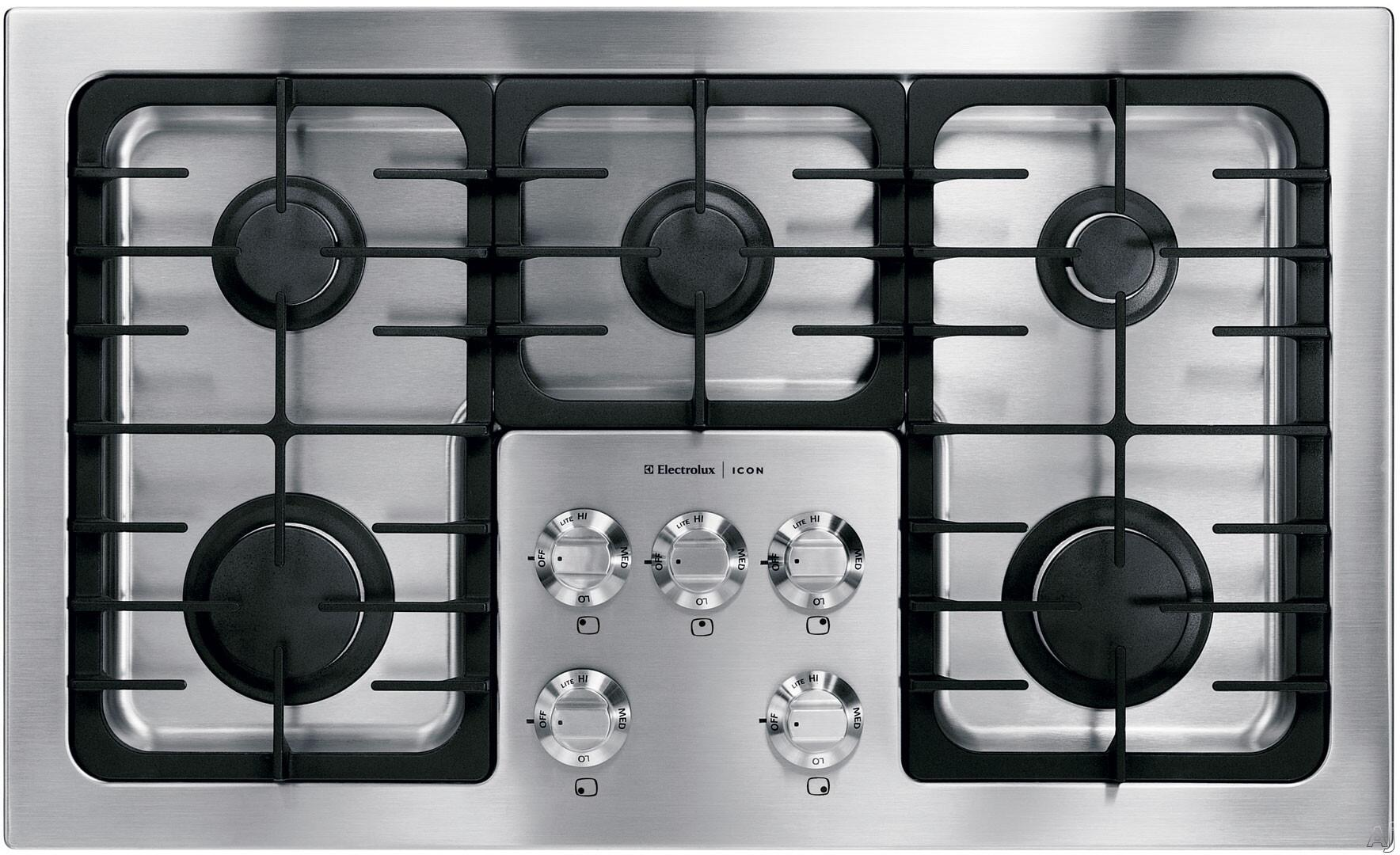 electrolux icon e36gc70fss designer series gas sealed burner style cooktop in stainless steel. Black Bedroom Furniture Sets. Home Design Ideas
