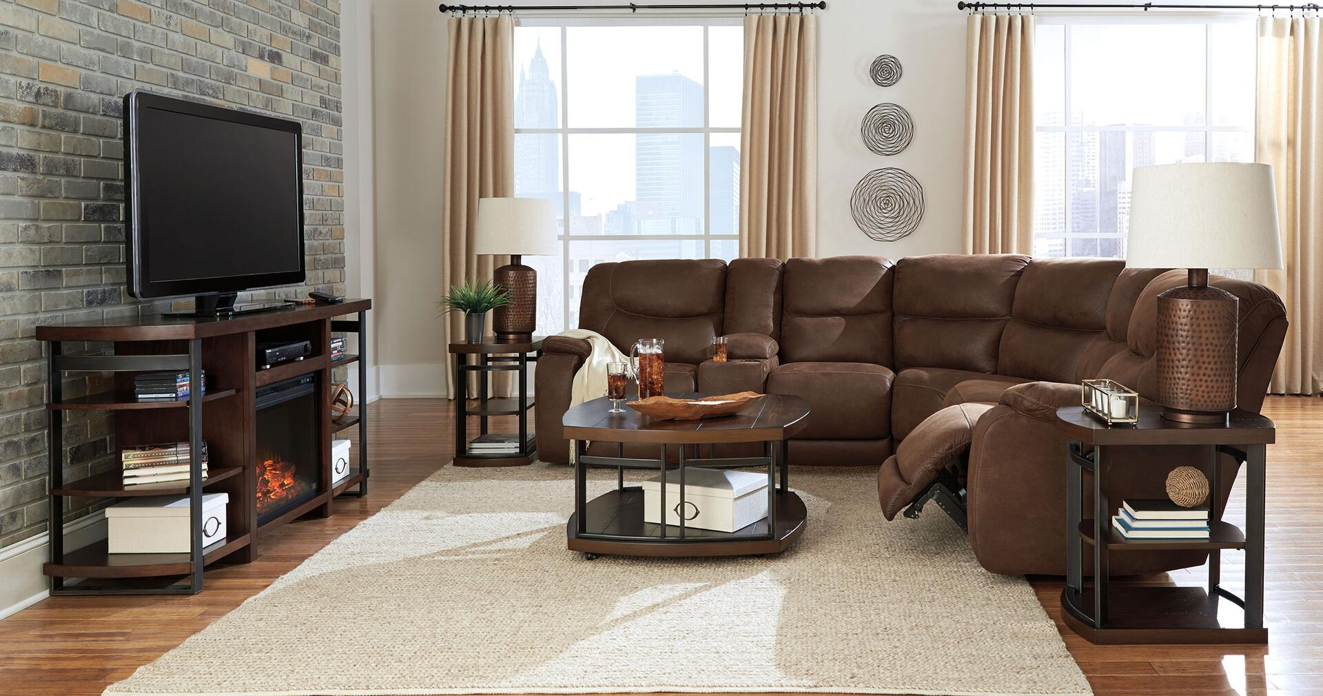 Benchcraft SECPL Longview Series Powered Reclining Faux