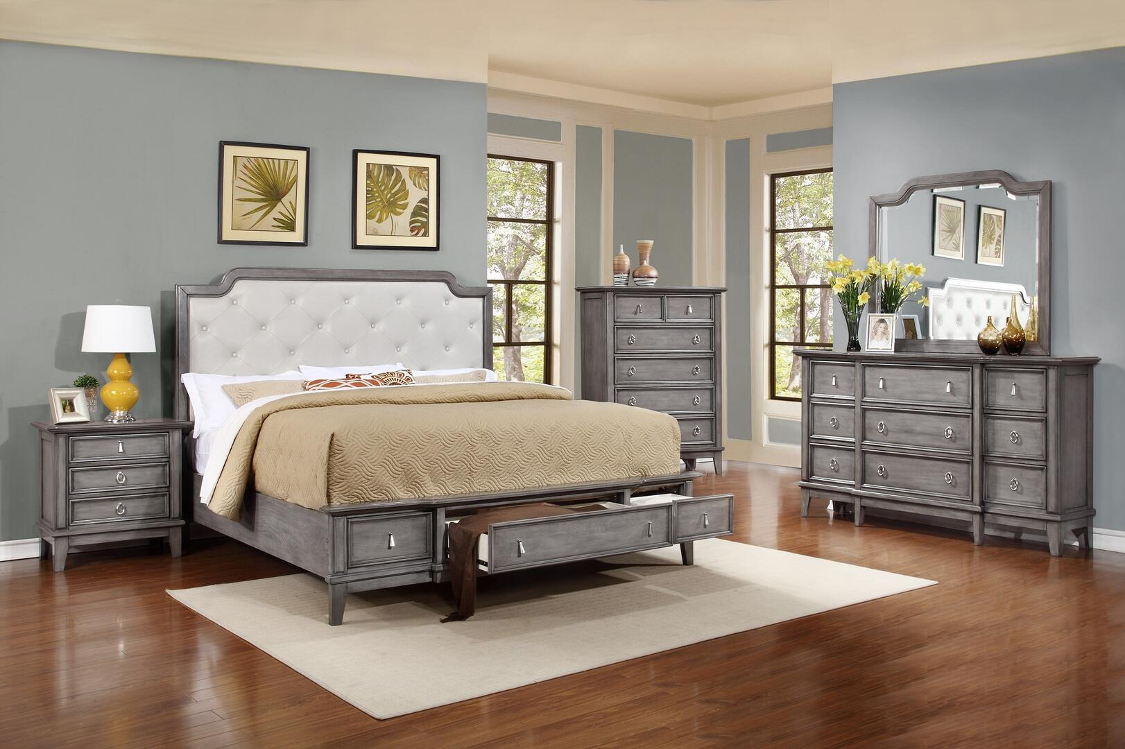 Myco Furniture An521kset Anastasia King Bedroom Sets Appliances