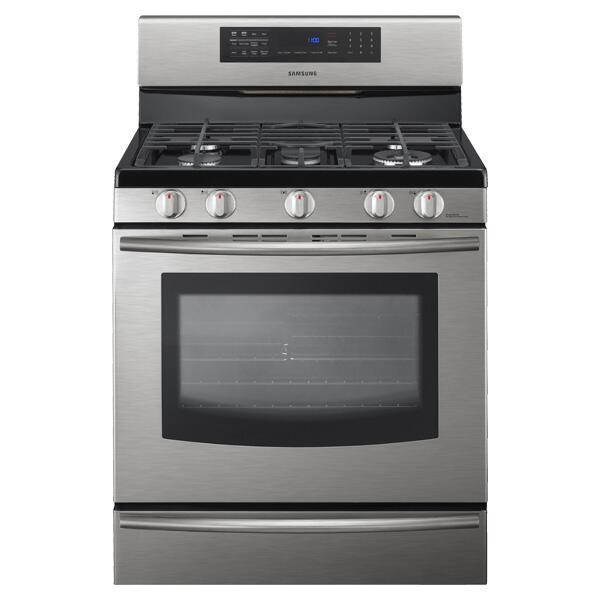Samsung appliance fx710bgs 30 inch gas freestanding range for Best slide in gas range under 2000
