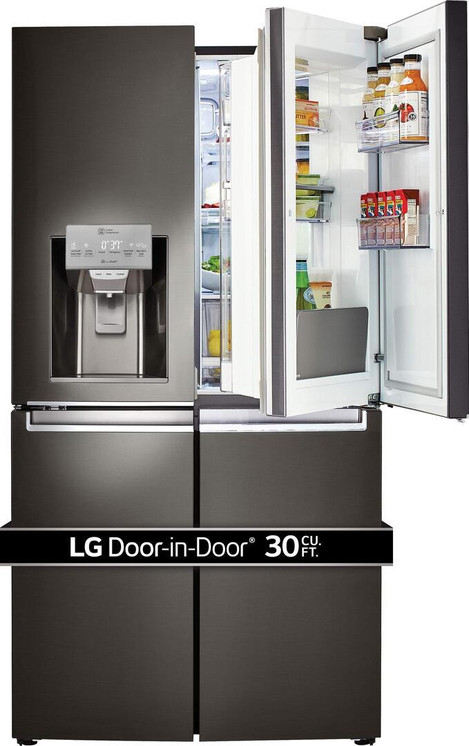 ... LG Black Stainless Steel 2 ... & LG LNXS30866D 36 Inch Black Stainless Steel Series Smart Black ...