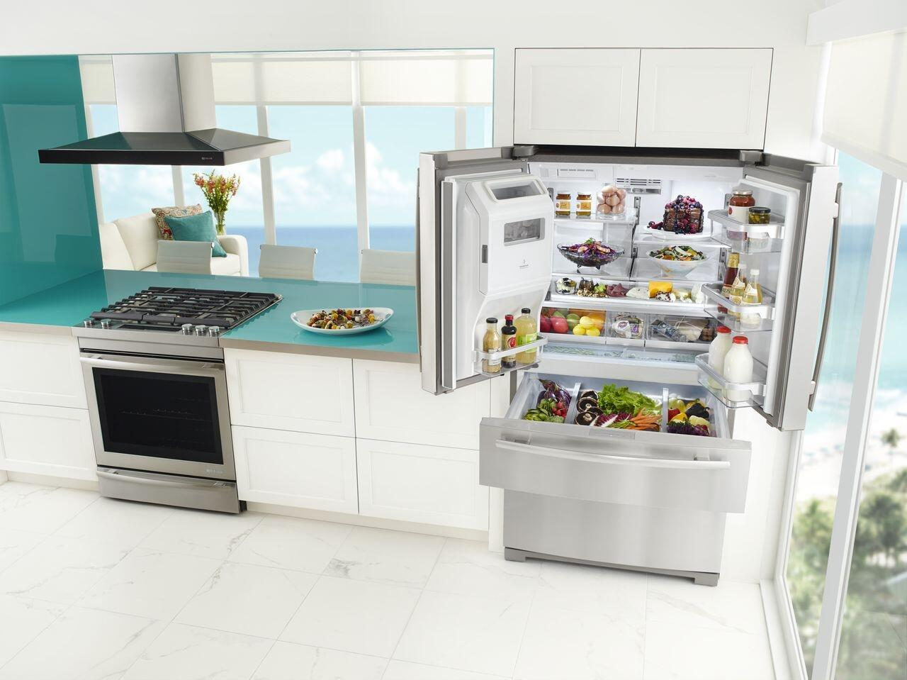 Jenn-Air JFX2897DRM 36 Inch French Door Refrigerator with 26.17 cu ...