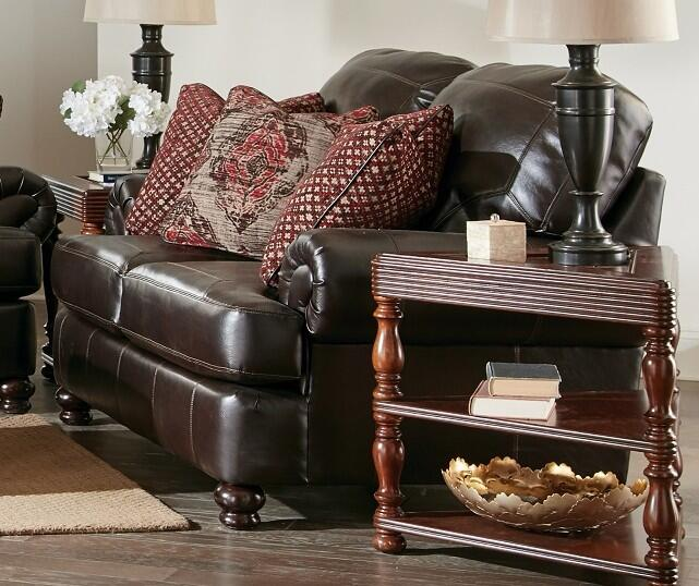 Jackson Furniture 436702116689126689 Southport Series Faux Leather Stationary With Wood Frame