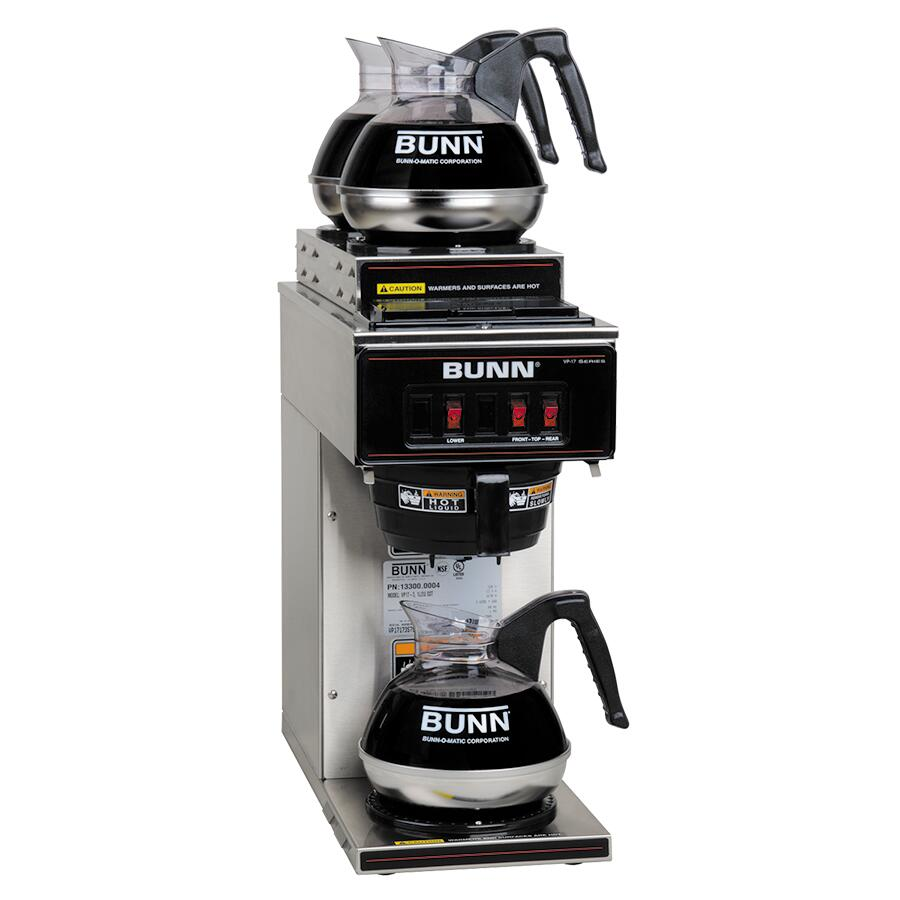 Bunn O Matic 133000004 85 Inch Coffee And Tea Brewing Machine Vp 17 Wiring Diagram Decanters Not Included