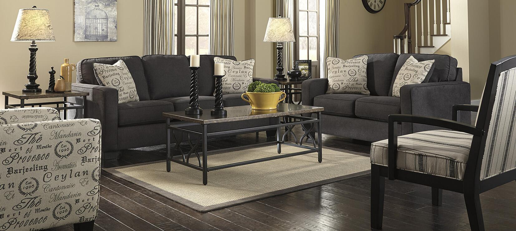 ... Milo Italia Elisha Loveseat Shown With Matching Sofa, Accent Chair And  Showood Chair ...