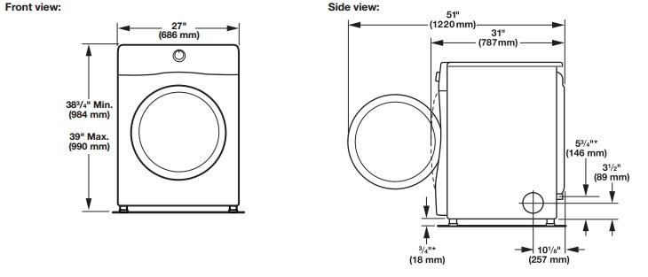 whirlpool wed86hebc duet series 7 4 cu  ft  electric dryer