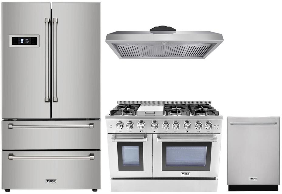 Thor Kitchen 888009 4 Piece Stainless Steel Kitchen Appliances Package