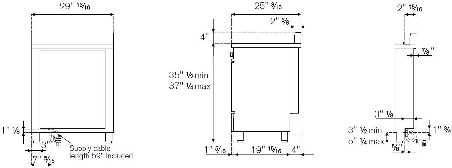 bertazzoni pro304insar 30 inch professional series electric freestanding range with smoothtop