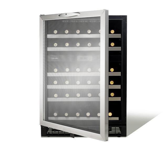 Danby Dwc518bls 23 81 Inch Built In Wine Cooler In