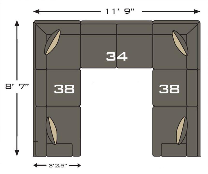Benchcraft Delta City 1970x 34 38 2 3 Piece Sectional