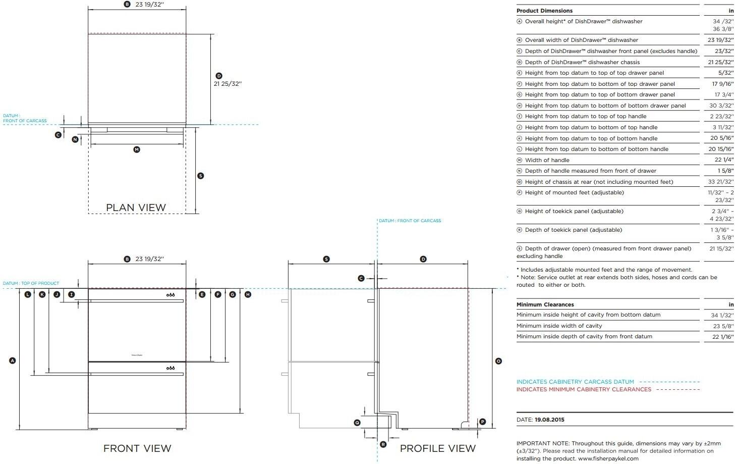 Fisher Paykel Dd24ddftx7 24 Inch Stainless Steel Drawers Semi Washing Machine Wiring Diagram Dimenions Guide