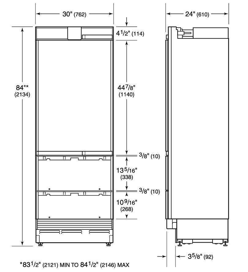 Sub Zero It30filh 30 Inch Counter Depth Freezer With 15 1