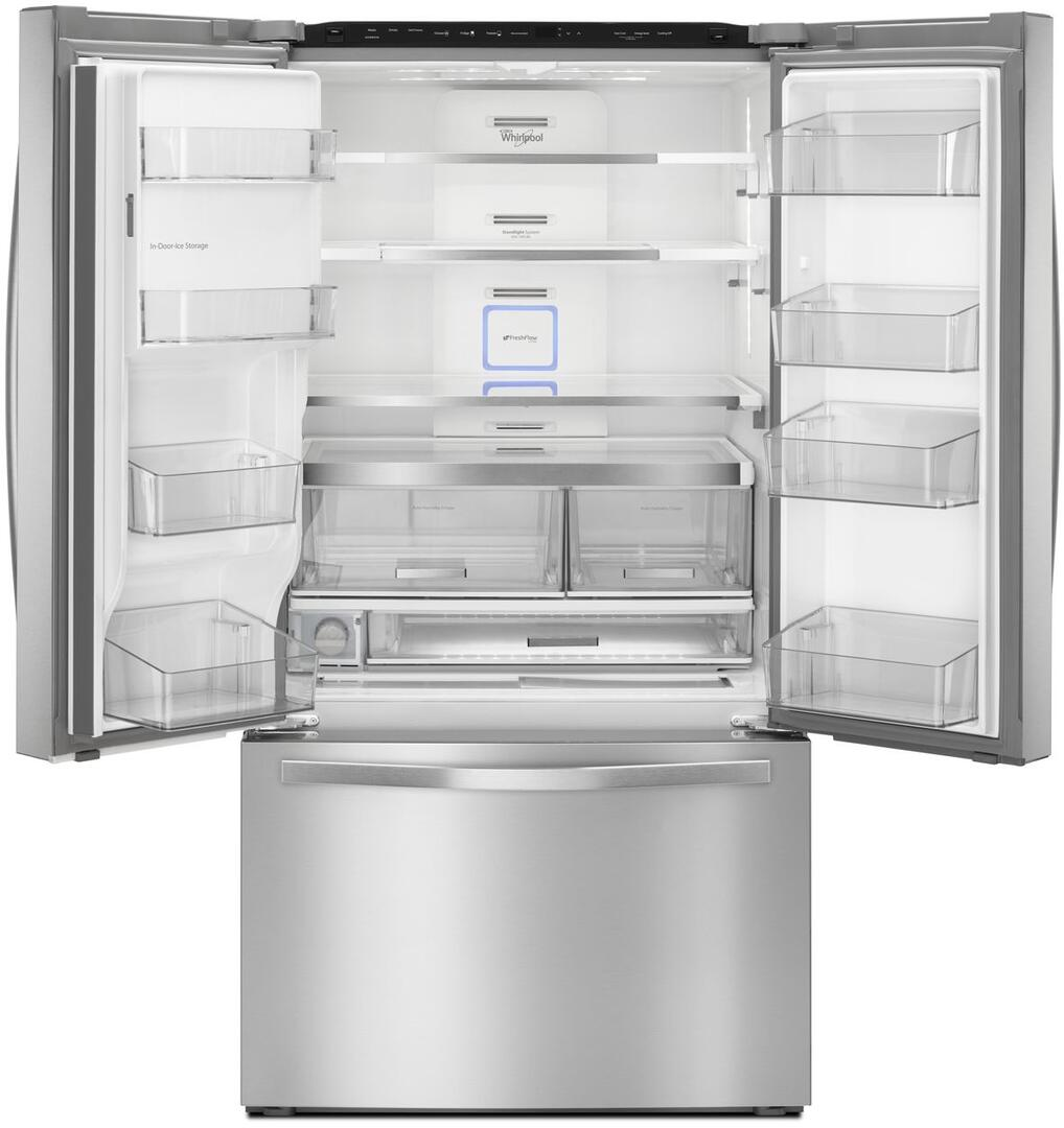 Whirlpool wrf992fifm 36 inch french door refrigerator with 3153 whirlpool interior view rubansaba