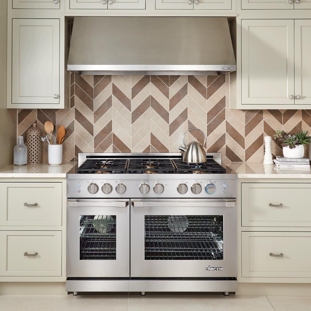 Dacor Rnrp48gsngh 48 Inch Renaissance Series Stainless Steel Gas Range Wiring Diagram Sample Installation In Kitchen
