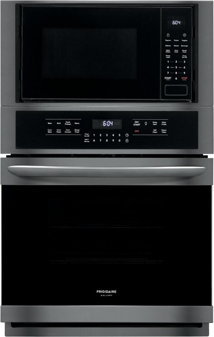 Frigidaire Fgmc2766ud Gallery Series 27 Inch Black Stainless Steel Electric Double Wall Convection Oven Microwave Combo