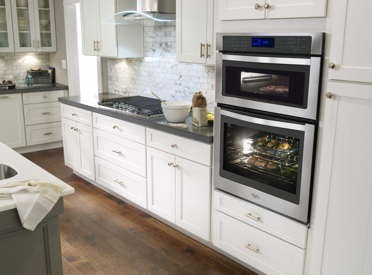 Whirlpool WOC97ES0ES 30 Inch Oven/Microwave Combo Double Wall Oven ...