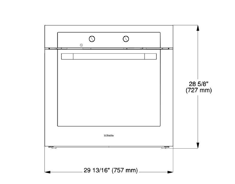 Miele H6281bp 30 Inch Single Wall Oven   In Clean Touch Steel