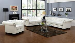 Camden Collection 50165SLCT 6 PC Living Room Set with Sofa + Loveseat +Chair + Coffee Table + 2 End Tables in White Color