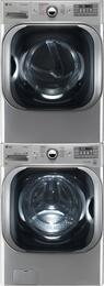 Graphite Steel Front Load Laundry Pair with WM8100HVA 29