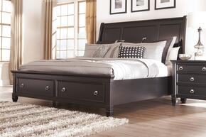 Greensburg Queen Bedroom Set with Storage Bed and Nightstand in Black