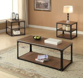 Kenton 80450CE 3 PC Living Room Table Set with Coffee Table + 2 End Tables in Oak Finish