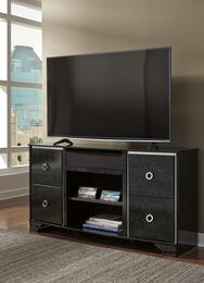 Amrothi Collection W257-68A31 2-Piece Set with TV Stand and W100-31 Small Integrated Audio Unit in Black